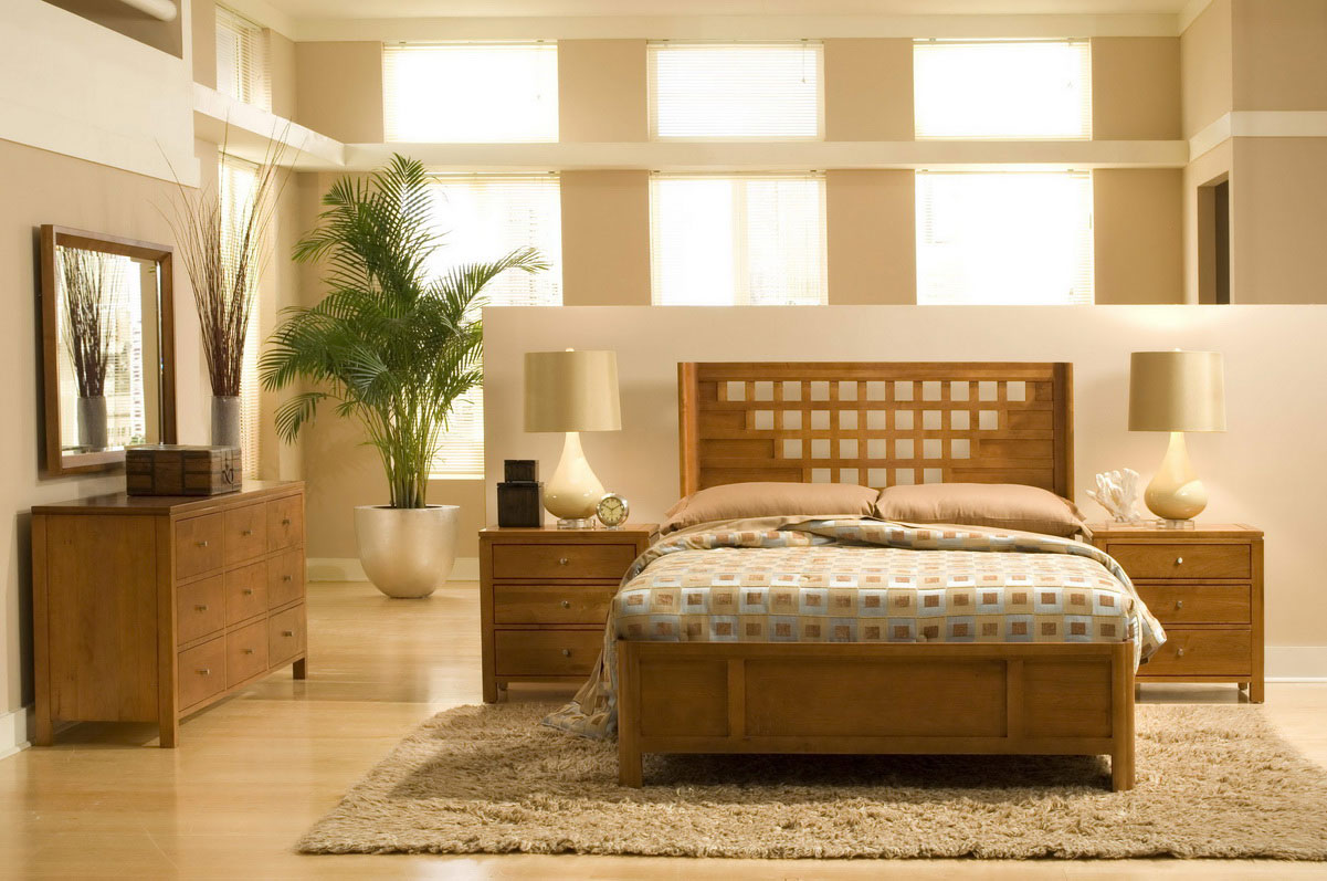 geometric design bed sets with complete natural finish rh bicfurniture com