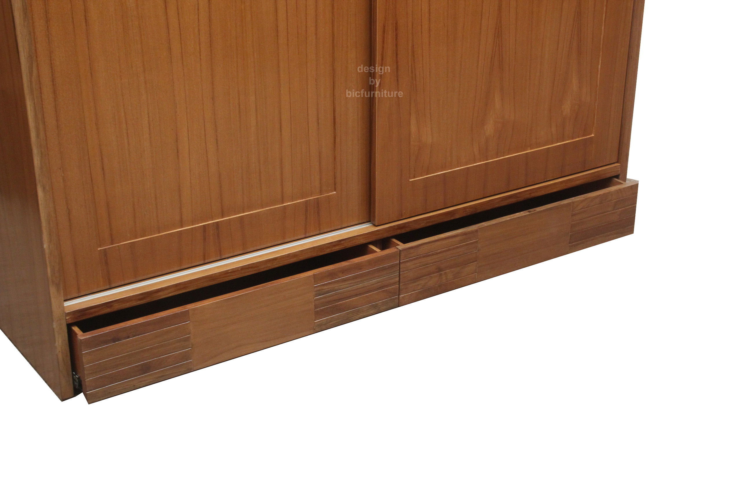 Modern Wardrobe With Strip Design On Doors. Full resolution  photo, nominally Width 2592 Height 1728 pixels, photo with #7D4928.