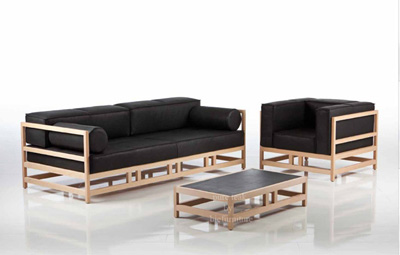 WS 114 Wooden contemporary sofa set