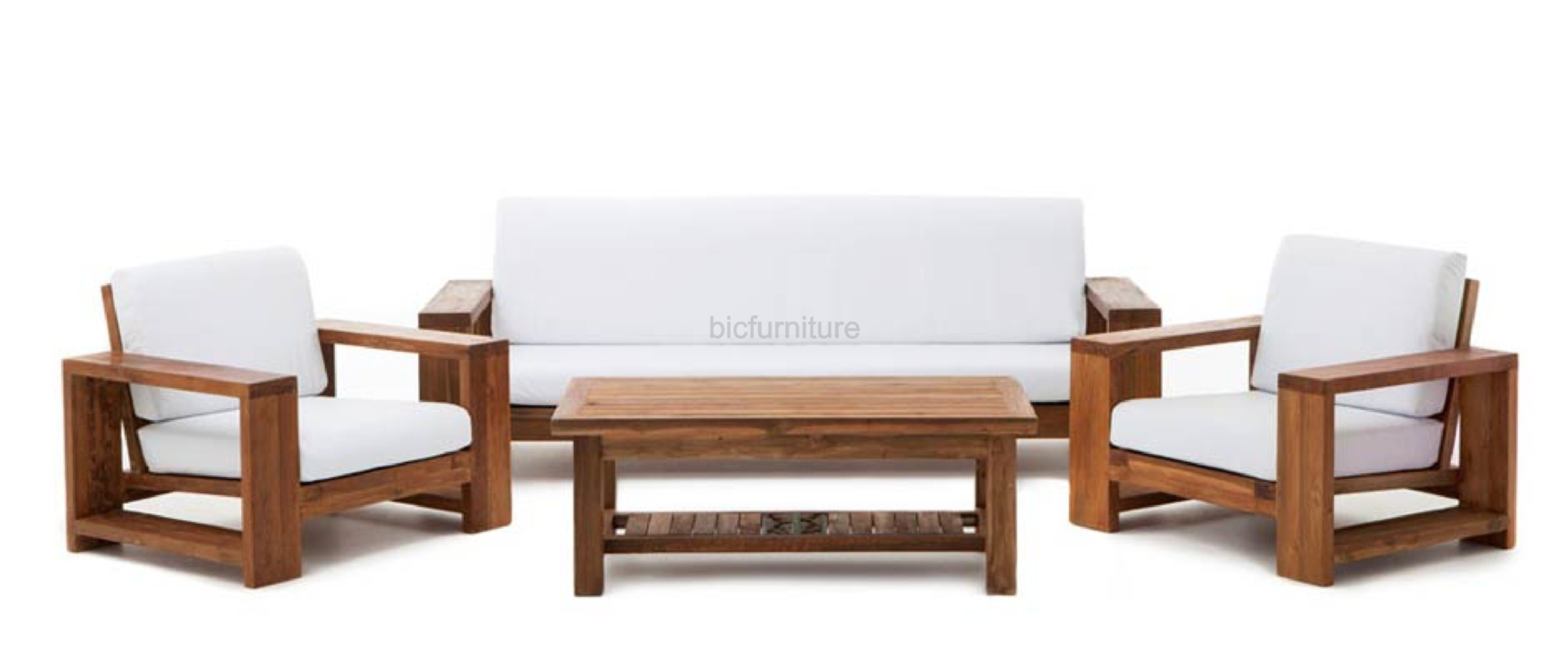 Ws 77 Comfortable Sofa Set In Teakwood Details Bic Furniture India