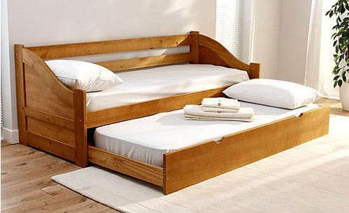 Wooden Plywood 2 Fold Sofa Cum Bed 500×