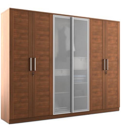 Veneer 6 Door Wardrobe In Plywood