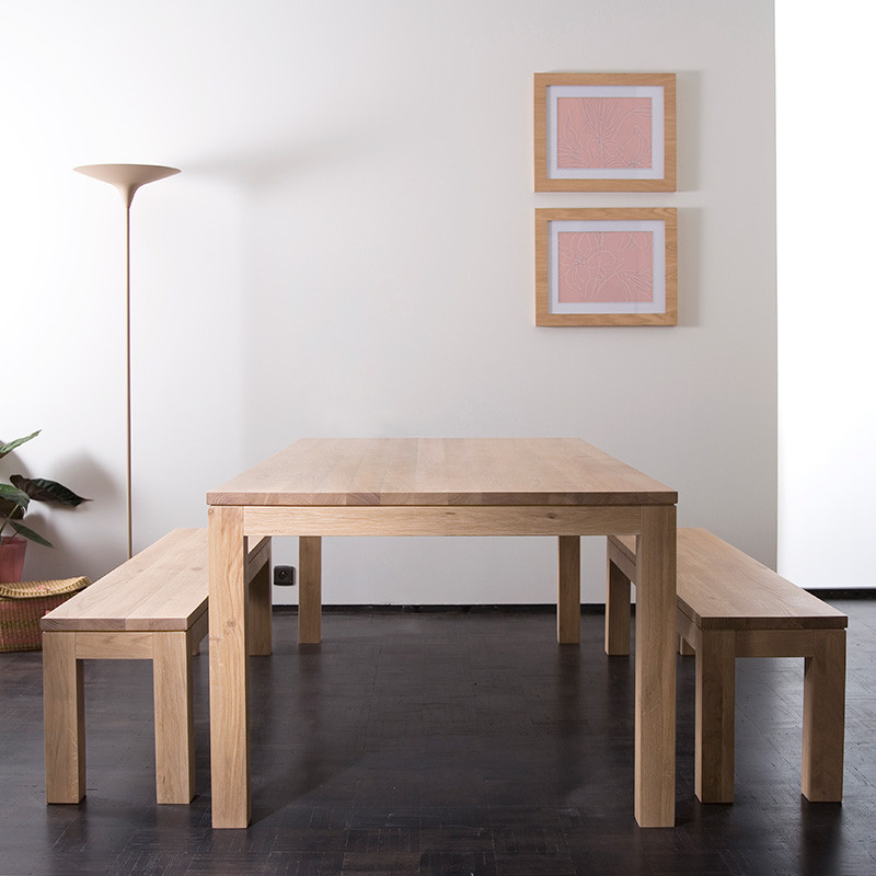 Oakwood dining table with 2 bench (ODS 56) Details  BIC Furniture India