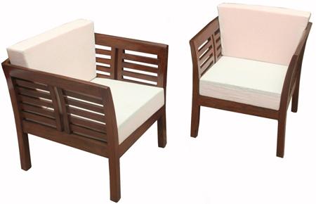 Teak wood Cushion Chair (WS 91)
