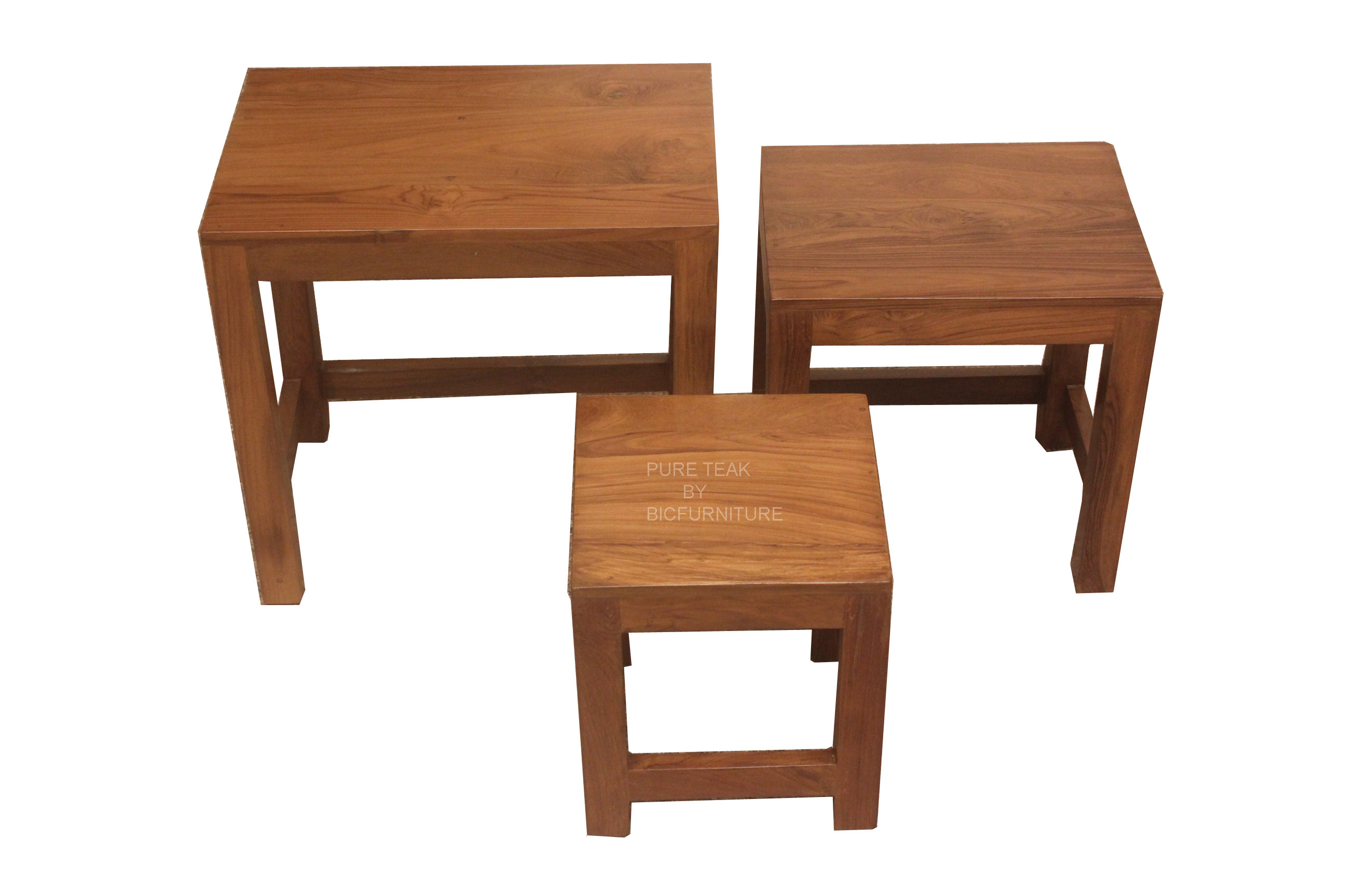Teakwood chest of stools (SF 55) Details | BIC Furniture India