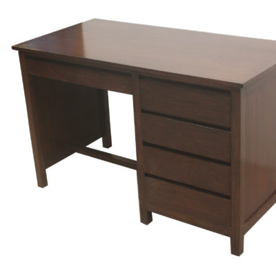 Wr98 Wooden Writing Table With Side Drawers Details Bic Furniture India
