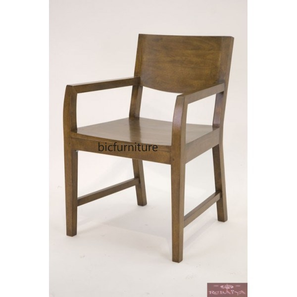 Wooden Arm Chair In Teakwood With Solid Wooden Planks