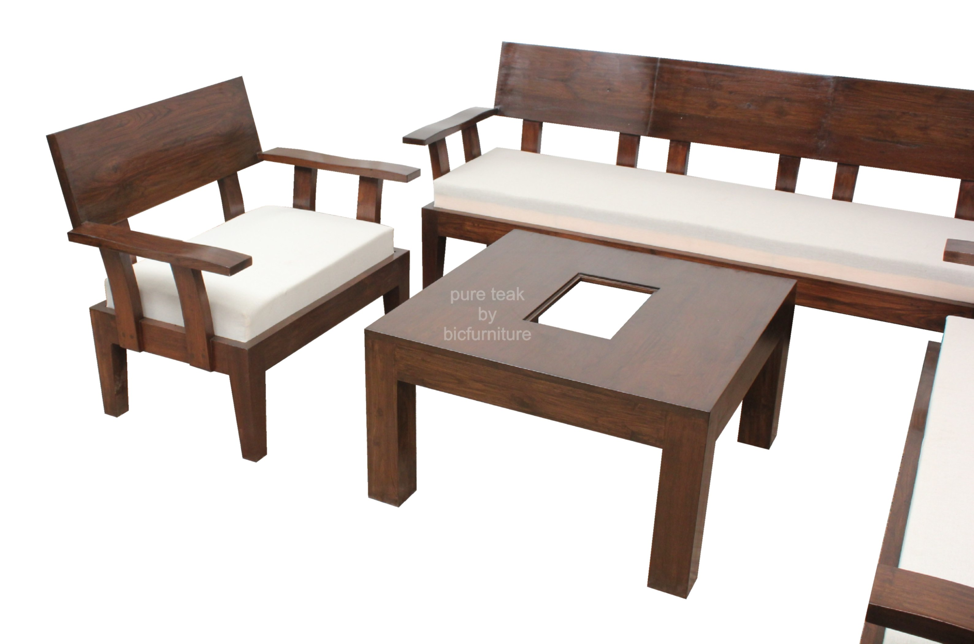 Exclusive Trendy Sofa Set With Centre Table In Teakwood By Bic