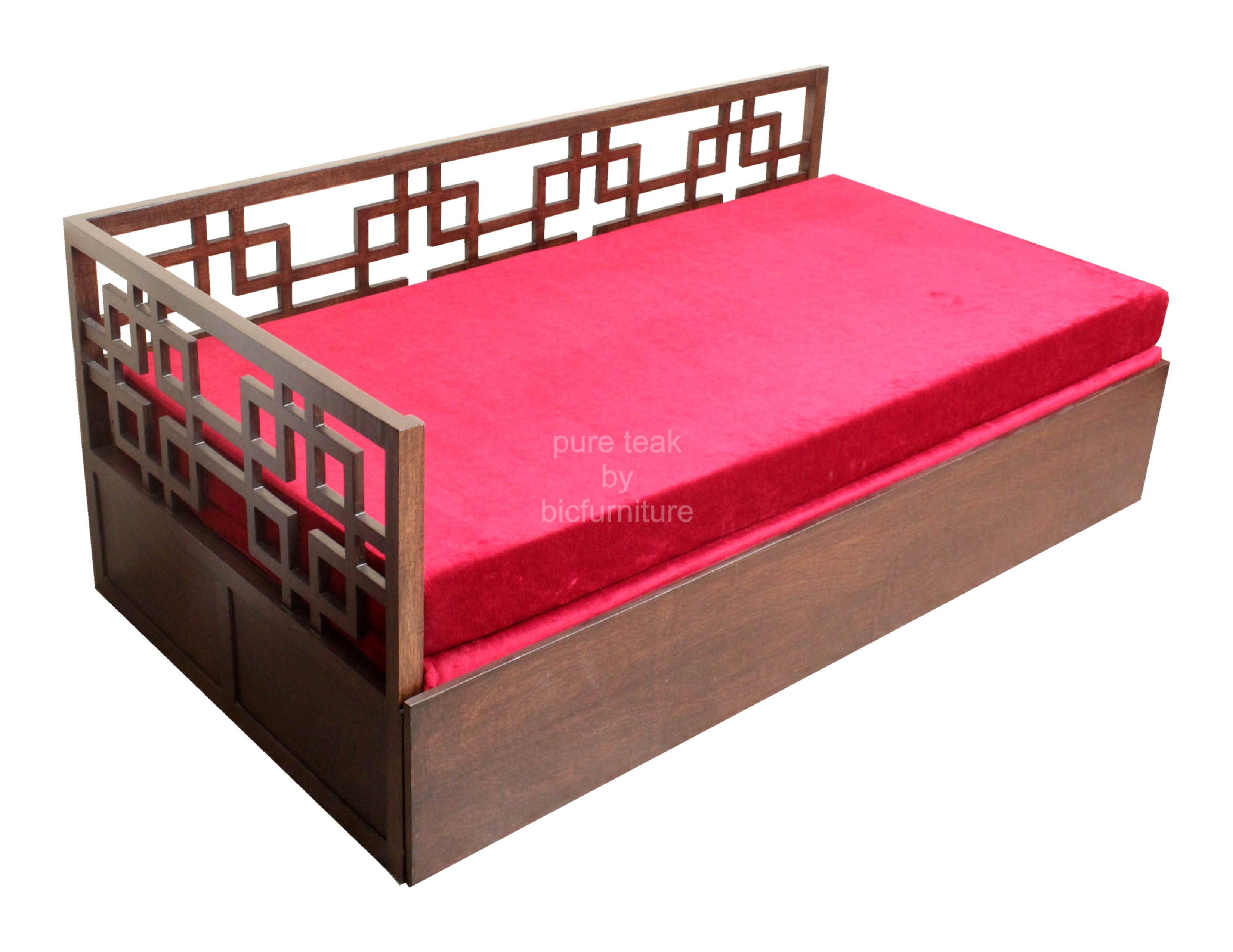 Jigsaw sofa cum bed in stylish design with storage