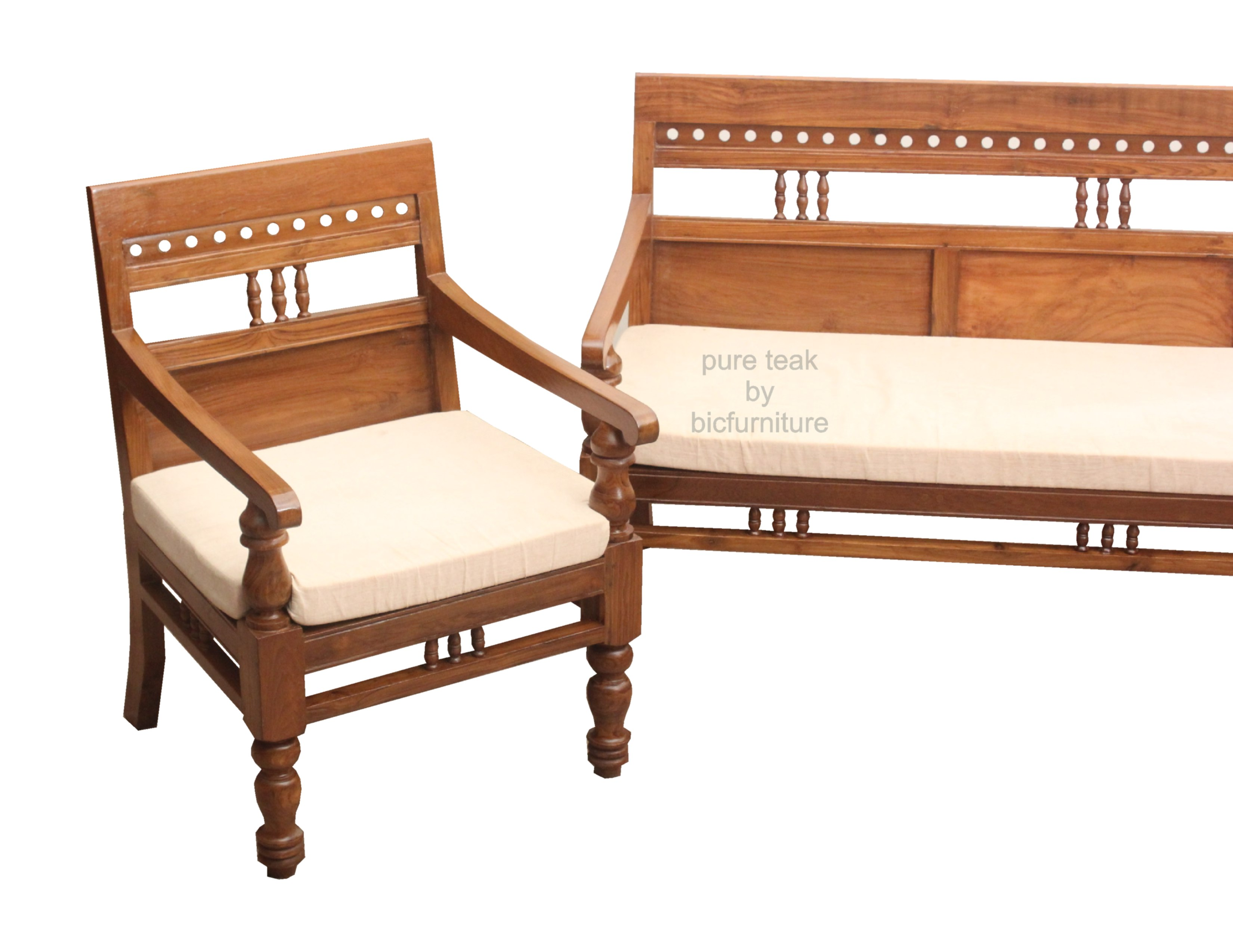 Wooden Sofa With Carving