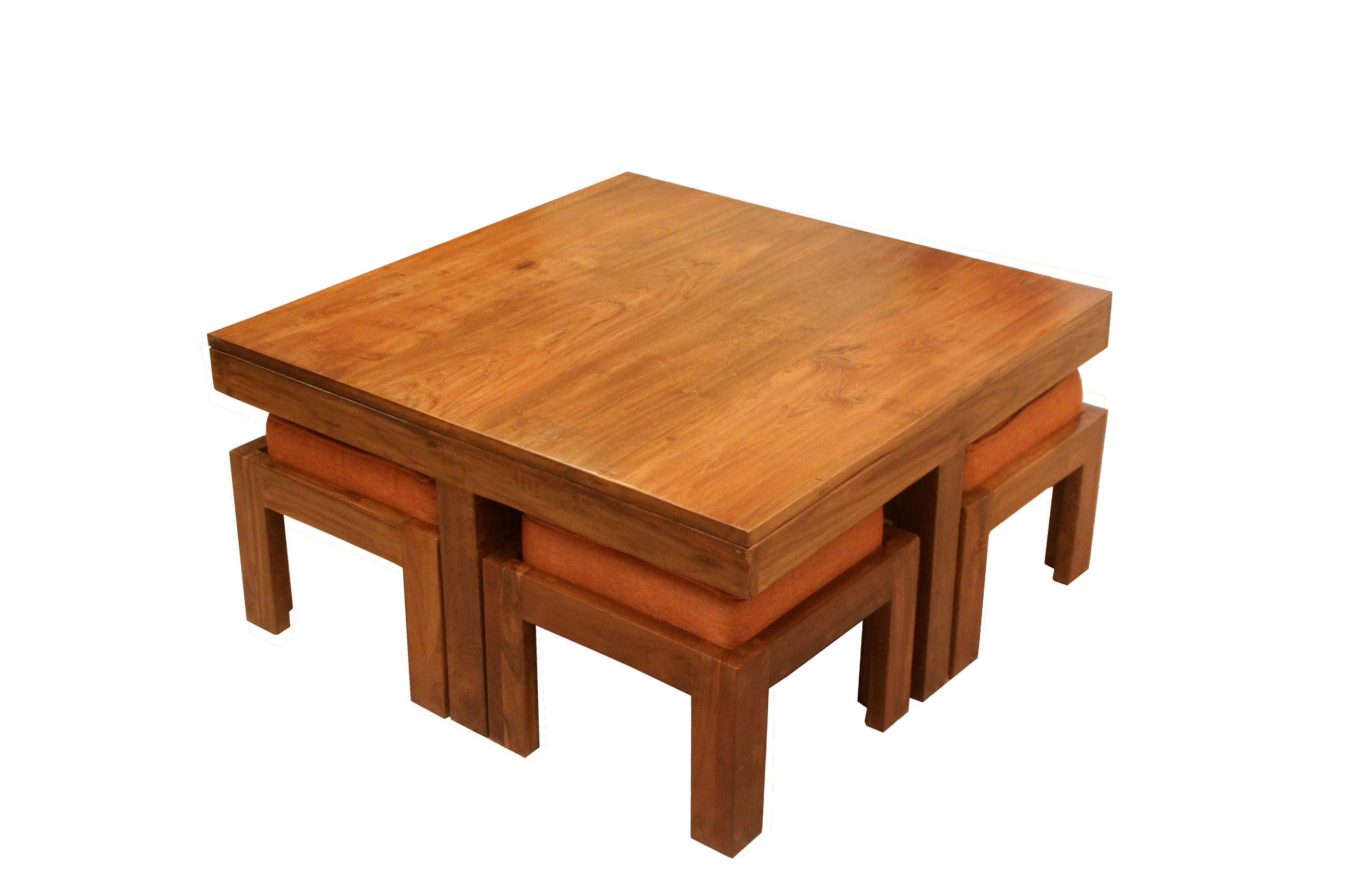 Teak Wood Coffee Table Set Cf 33 Details Bic Furniture India